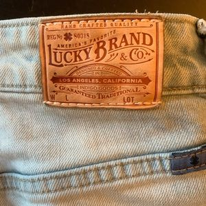 Lucky Brand Jeans - Lucky Brand High Waisted Light Jean Capris